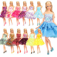 Barwa New Barbie Doll  Random 5 short skirts + 5 hangers + 5 shoes