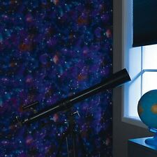COSMIC SPACE GLOW IN THE DARK WALLPAPER - RASCH 292312 NEW