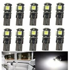 100x White Canbus T10 5smd 5050 LED Dome Wedge LightsBulb Error Free W5W 194 168