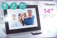 "Aluratek - 14"" Widescreen LCD Digital Photo Frame 4GB Built In Memory w/ Remote"