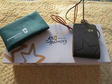 2016 Starbucks Malaysia 5th Anniversary - Leather Luggage Tag (Black Color)