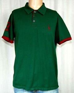 Giraffe Logo Vintage 1980s Green Polo Shirt Medium