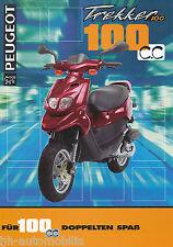Peugeot Trekker 100 Motorroller Prospekt 12/97 brochure 1997 Broschüre Scooter