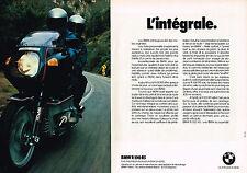 PUBLICITE  1979   BMW  moto R 100 RS  ( 2 pages)