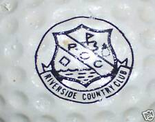 (1) Vintage Riverside Cc Course Logo Golf Ball Balls