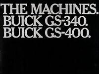 1967 Buick GS Sales Catalog GS340 GS400 Original Brochure Gran Sport 340 400