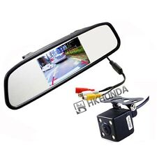 "4.3"" inch Car Reversing Mirror Display Monitor + 4LED CCD rearview camera"