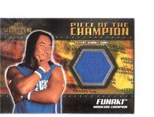 WWE Funaki 2001 Fleer Championship Clash Event Worn Shirt Relic Card WWF