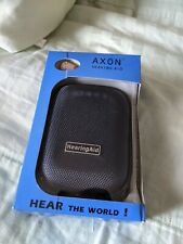 A Pair of Rechargeable ITE Hearing Aid Ear Invisible AXON K-88 With Carrier Box