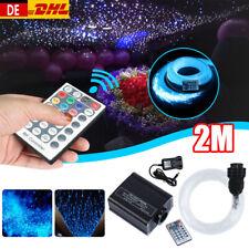RGBW 16W LED Sternenhimmel Lichtfaserset Glasfaser Kit Dekor Fernbedienung 2M