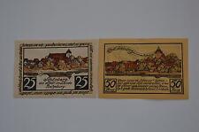 SCHONBERG NOTGELD 25, 50 PFENNIG 1923 COMPLETE SET GERMANY BANKNOTE(S) (5492)