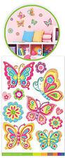 BUTTERFLIES & flowers 3D POP-UPS wall stickers 11 decals child's room decor