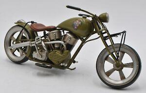 "Jayland 1/8 Scale 12"" Metal WWII Harley Davidson W/Erotic Girl Logo Motorcycle"