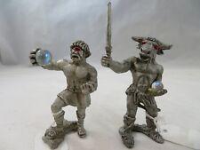 Vintage Decorative Collectibles Sunglo Pewter Figurines Cyclops & Minotaur