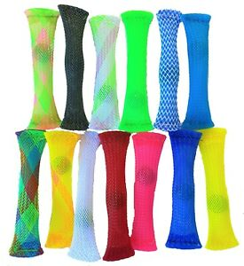 100 x Mesh & Marble Fidget Stress Anxiety Relief Soothing Sensory Tube-JOBLOT