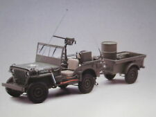 1:18 AUTOART JEEP WILLYS (ARMY GREEN) (WITH TRAILER/ACCESSORIES INCLUDED) 1943