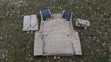 BRITISH MILITARY ISSUE DESERT TAN BODY ARMOUR COVER 190/108 WITH POUCHES