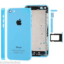 ATRÁS COVER TAPA FRAME MEDIO MARCO PARTE TRASERA PARA APPLE IPHONE 5 C AZUL