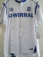 Tranmere 2010-2011 Squad Signed Home Football Shirt FLT letter coa /40466