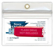 StoreSMART USB Flash Drive Business Card Holders 5Pk Zip-Top R1634ZIPL-5