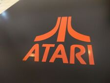 "2 pack Atari 2600 5200 7800 Logo Vinyl Sticker Gloss Orange 5"" wide x 6"""