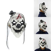 Scary Latex Imp Clown Devil Mask Adult Fancy Halloween Party Prop Costume Dress