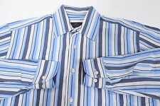 Mens 38 ETRO MILANO Striped L/S Made in ITALY Shirt