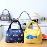 Thermal Insulated Lunch Box Tote Cooler Bag Bento Pouch Lunch Container Thermal