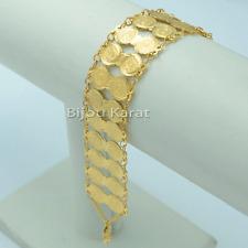 Bilezik Bileklik Armband Altin Kaplama 22 Ayar Karat GP Tugra Gold Münze