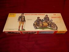 1/35 Heller French Motorcycle Moto Gnome-Rhone w/Side Car & 3 Cavalry Troops OB