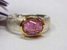 SCHMUCK-STCK RING SILBER PINK TURMALIN NEU 53 17 vergoldet Cabochon
