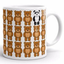 Sad Lonely Panda & Teddy Bears Coffee Mug Tea Cup Cute Far Away, Moving Gifts