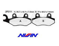 NISSIN 2P211NS ALMOHADILLAS PAR TRASEROS TRIUMPH VELOCIDAD TRIPLE 1050 R 12-15