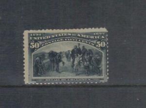 1893 50 CENT SLATE COLUMBIAN MOGH  SCOTT $425.00 USD