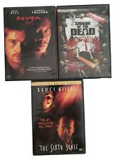 Lot Of 3 Horror Movies The Sixth Sense, Seven, Shaun Of The Dead