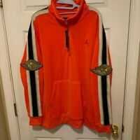 Nike Air Jordan Gold Chain Pullover Jacket Ember Glow Size L BV4043-634 $125 NWT