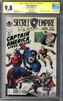 Secret Empire #1 CGC 9.8 (Jul 2017, Marvel) Signed by Mike Perkins, Stan Lee Box