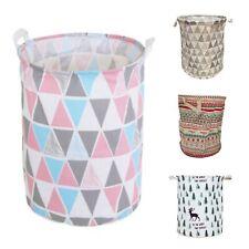 4 Styles Laundry Hamper Baskets Foldable Cotton Waterproof Storage Bin