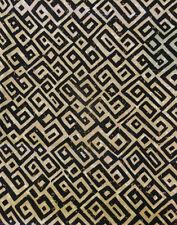 "Vintage Margin Designs Cotton Fabric Lattice 1.7 Yards x 54"" Scrap Black/Coffee"