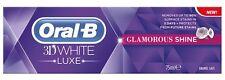 Oral-B 3D White Luxe Glamour Brillo MANCHAS EXTRACCIÓN BLANQUEAMIENTO PASTA DE DIENTES
