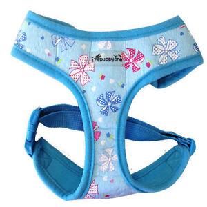 Dog Puppy Soft Harness - iPuppyone - Pin Wheel, Adjust. Neck Chest - Blue XS S L