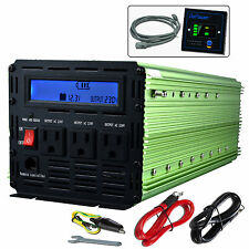 3000W 6000W 12V dc to  220V ac  Car Power Inverter with LCD & cables 3 outlets