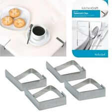 4 x STAINLESS STEEL TABLE CLOTH CLIPS, Self Adjusting Clips, Secure Tablecloths