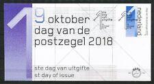 FDC E-776 - DAG VAN DE POSTZEGEL 2018 -  ONBESCHREVEN / OPEN KLEP