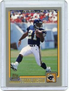 2001 TOPPS #350 LADAINIAN TOMLINSON ROOKIE CARD RC SAN DIEGO CHARGERS HOF 011621