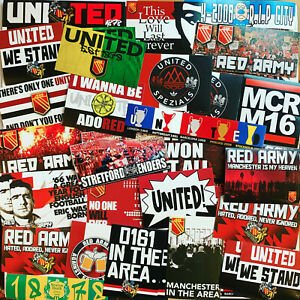 100 x United Stickers inspired by Manchester Shirt Scarf Badge Flag MUFC Cantona