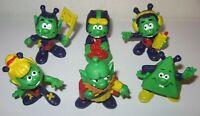 6 LOT Vintage 1983 ASTROSNIKS Bully Figuren Schaper Hong Kong Toy FREE U.S. Ship