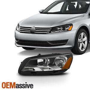 Fit [Halogen Type] 2012-2015 VW Volkswagen Passat Driver Left Side Headlights