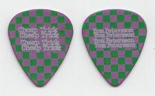 Cheap Trick Tom Petersson Purple Green Checkerboard Guitar Pick - 2012 Tour