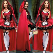 Sexy adult Little Red Riding Hood costume Halloween/Christmas Fancy Dress